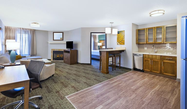 1 Bedroom Suite Deluxe, 1 Queen Bed, Fireplace, Non-smoking at Staybridge Suites Columbia Hotel, Missouri