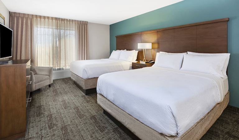 Staybridge Suites Columbia Hotel, Missouri 1 Bedroom Suite Deluxe, 2 Queen Beds Non-smoking