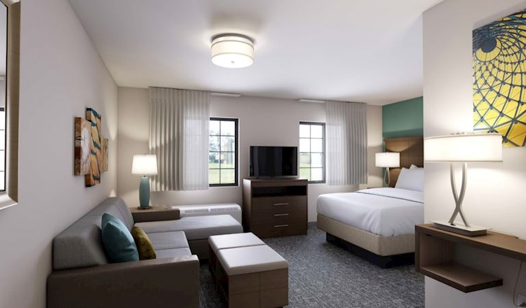 Studio Suite 1 King Bed Non-moking at Staybridge Suites Columbia Hotel, Missouri